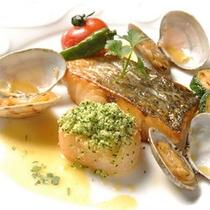 ディナーメイン料理イメージ魚