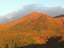 黄金色の黒尾谷岳