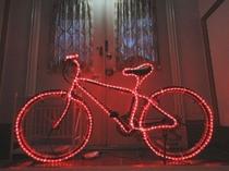 自転車のイルミネーション