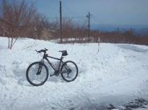 那須岳スノーサイクリングツアー