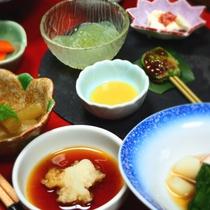 【ご夕食一例】素材の美味しさが際立つ、水にこだわったお料理の数々