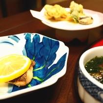 【ご夕食一例】焼き物・蒸し物・揚げ物