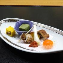 【ご夕食一例】水にこだわったお料理の数々をご堪能下さい。