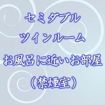 【セミダブルツインルーム一例】