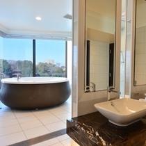 お庭が見えるお風呂で、ゆったりバスタイム♪ビューバススイートルーム
