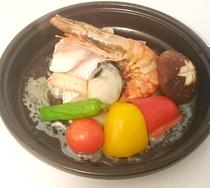 海鮮陶板焼き(夕食)