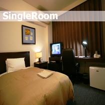 当ホテルのシングルルームは16平米あり、広々ゆったりお過ごし頂けます。