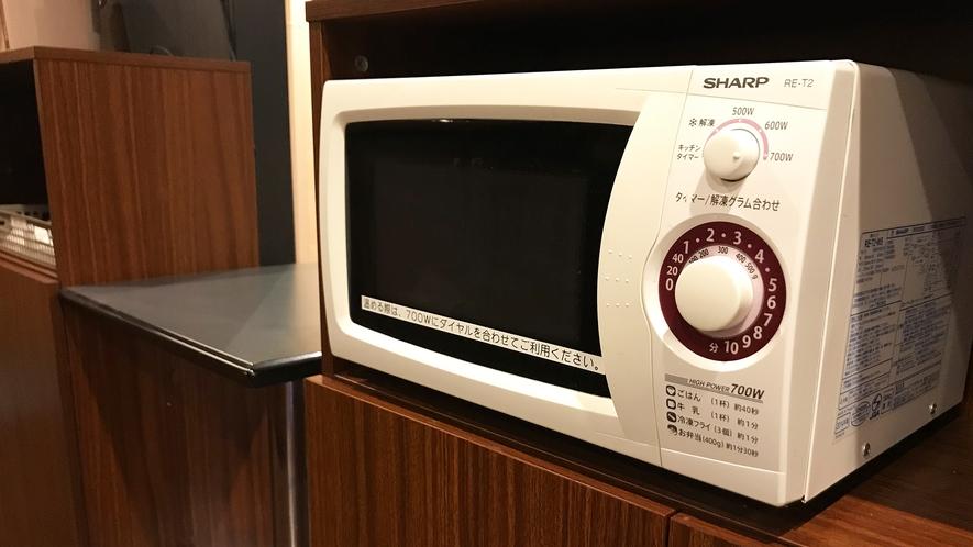 電子レンジ・ポットは1階にございます。