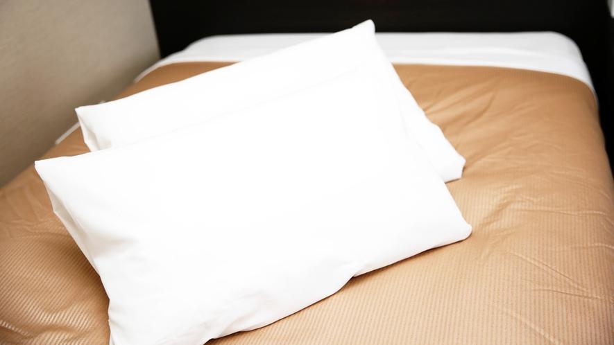 安眠性に優れた2種類の枕をご用意!