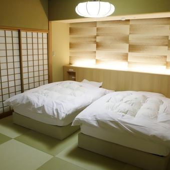 【聚楽第】和室2間ベッド(本間12+次の間8畳)禁煙