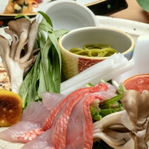 【2019夏の懐石・強肴】金目鯛のしゃぶしゃぶ ※イメージ