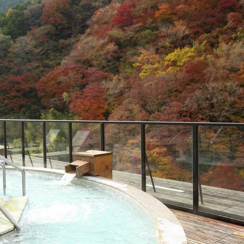 【展望露天風呂 大空】秋の眺望