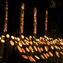 【山翠楼・海石榴】秋イベント「竹灯りの夕べ」