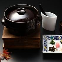 【2020秋の懐石/食事・留椀・香の物】北海道ブランド米「ゆめぴりか」釜炊きごはん