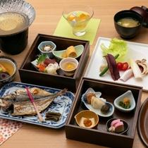 【秋のおもてなし朝膳】選べる朝の焼き魚や季節の食材をたっぷりと※イメージ