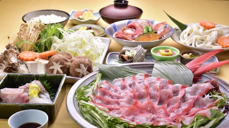 【夕食】金目鯛のしゃぶしゃぶ鍋※イメージ