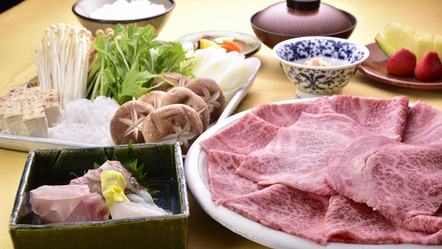 【夕食】田舎家 すき焼きコース