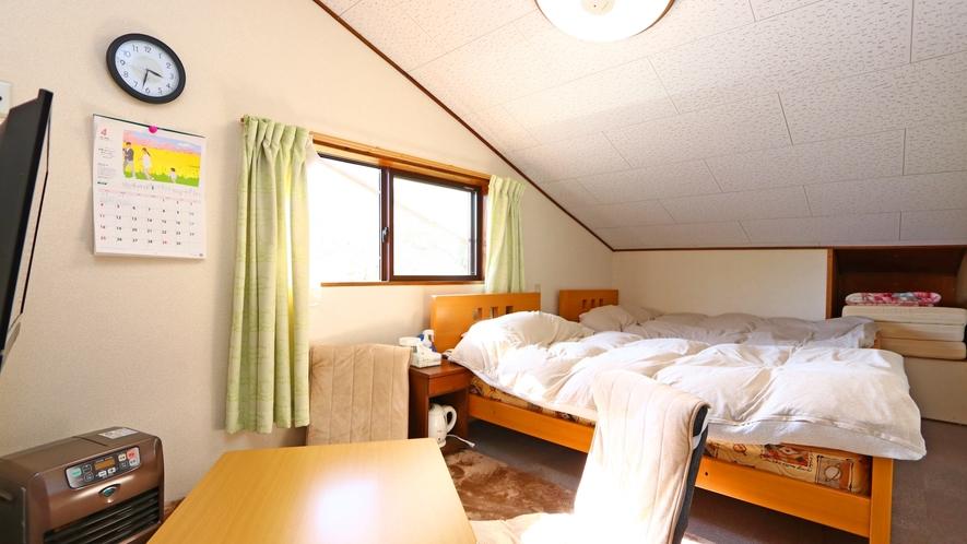 【おまかせ洋室】ツインルームタイプ①※お部屋によって形は異なります。