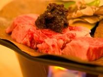 信州牛の朴葉赤みそ焼き