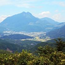 天候に良い日には由布岳がきれいに見えます♪