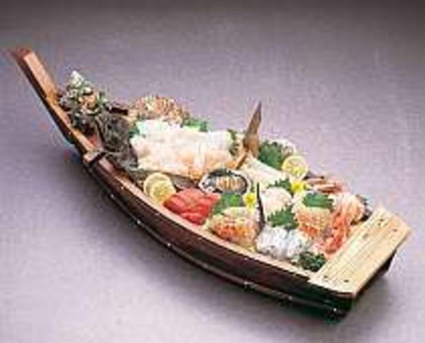 ヒラメ付舟盛一例