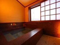 客室露天にもバラギ温泉を掛け流し