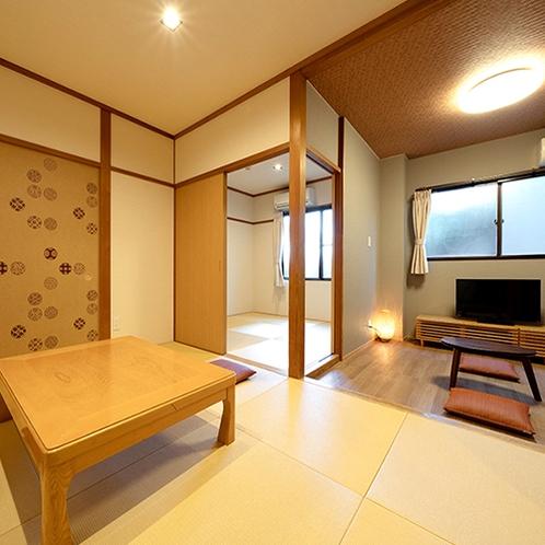 【木曽北側】 本館和室 15畳分(3部屋分) 居間・テラスなし