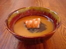 車海老と揚げ茄子の茶碗蒸し