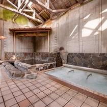 *石庭風呂/打たせ湯と超音波風呂で腰や肩の疲れを解しましょう。心地よい刺激が◎