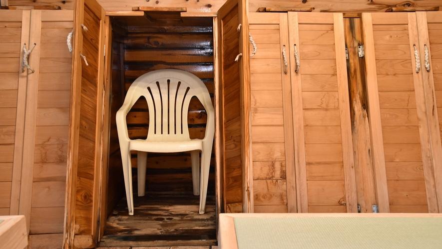 *蒸し風呂(石庭風呂)/蒸し湯がある温泉は日本全国でもごく僅か。温泉のエネルギーで美肌を取り戻して。