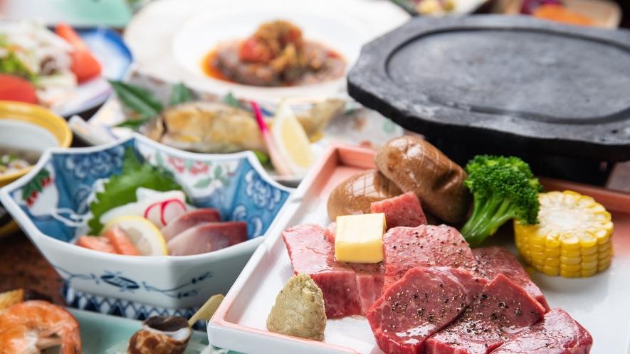 *その場で焼くくまもと和牛のステーキ!口の中でとろけます。