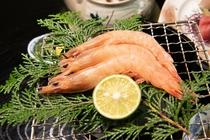 【夕食】海鮮BBQ (本海老)