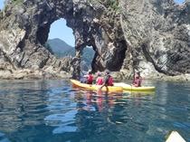 ジオカヌーあまるべ洞窟ツアー体験できます。