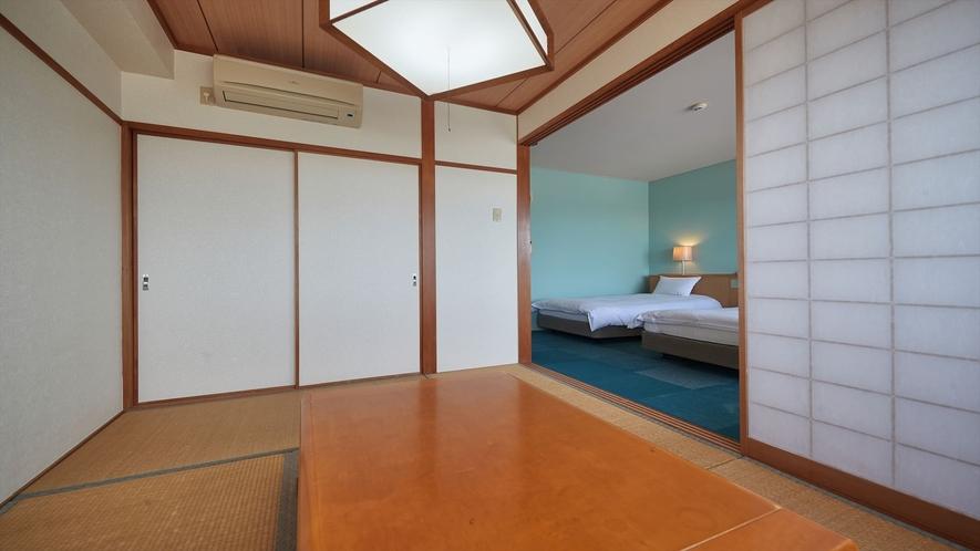 【3階~4階和洋室◇客室一例】最大5名様までご利用可能です♪