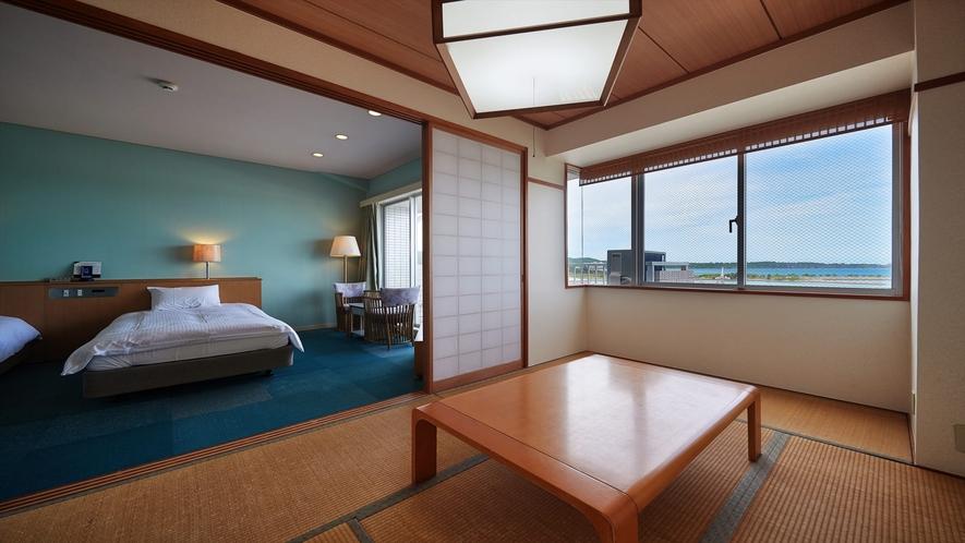 【3階~4階和洋室◇客室一例】広々としたお部屋で素敵な時間をお過ごしくださいませ