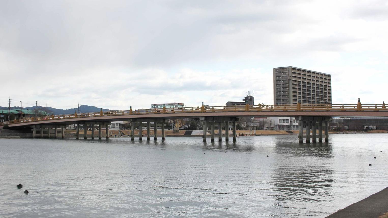 *【瀬田の唐橋】日本三名橋・日本三大橋の一つです。