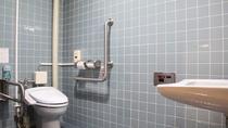 *【障害者用トイレ一例】車椅子の方でも安心してご利用いただけます。