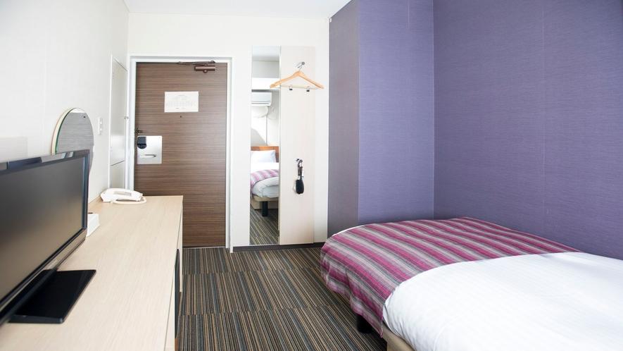 シングルルーム<12㎡/ベッド幅120cm>