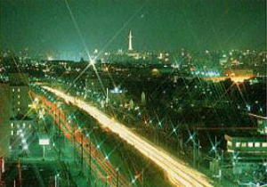 13階より京都駅方面の夜景