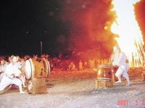 御神火祭と九尾の狐太鼓