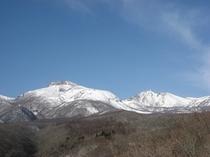 厳冬の那須岳と旭岳