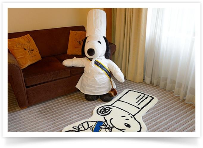 宿泊プラン「Grand Chef SNOOPY」限定のお部屋 ※イメージ   ホテルエントランス