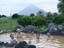 みんなで露天風呂