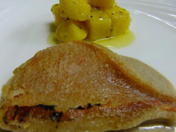 フルコースディナー(魚料理)|金目鯛のソテー レモンソース