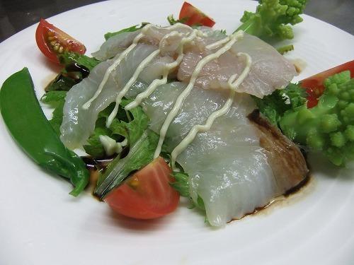 フルコースディナー(前菜)|松川のカルパチョ