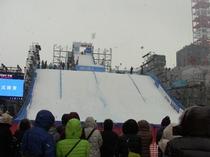 スノーボードジャンプ台