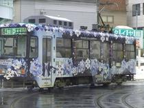 冬期間限定雪ミク電車