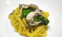 フルコースディナー(パスタ)|牡蠣とニラのパスタ