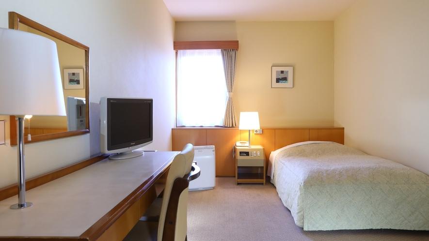 ◇シングルルーム シンプルで静かなお部屋でゆっくりとお過ごしください