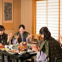 ●みんな楽しみ、夕食の時間♪